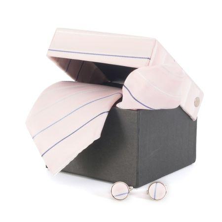 Gravata-com-lenco-abotoaduras-e-caixinha-desenhos-geometricos-em-polieste-rosa-claro-com-marinho
