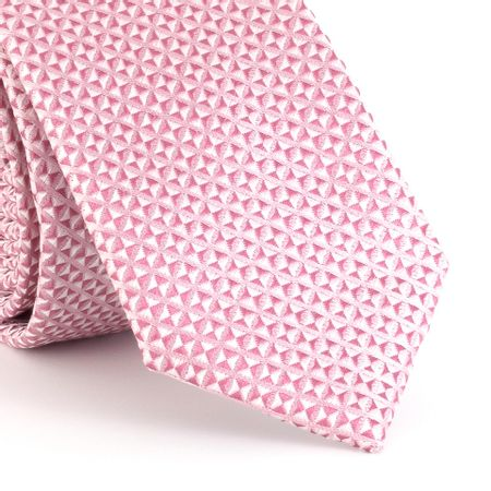 Gravata-Slim-triangular-em-poliester-rosa-quartzo-com-fundo-branco