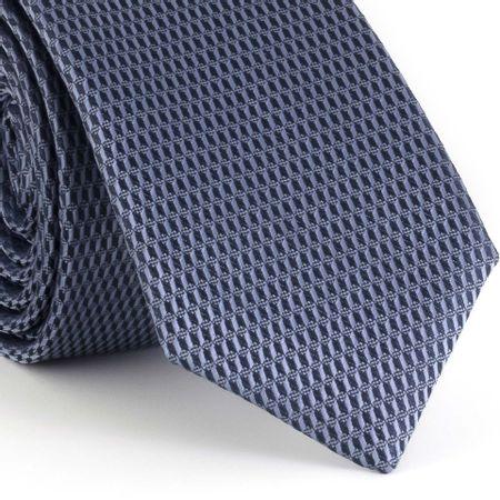 Gravata-Slim-falso-liso-em-poliester-azul-porcelana-com-fundo-branco