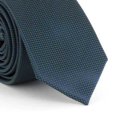 Gravata-Slim-falso-liso-quadriculado-em-poliester-verde-escuro-com-fundo-branco