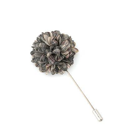 Pino-de-lapela-flor-crisantemo-xadrez-cinza-com-bege-e-vinho
