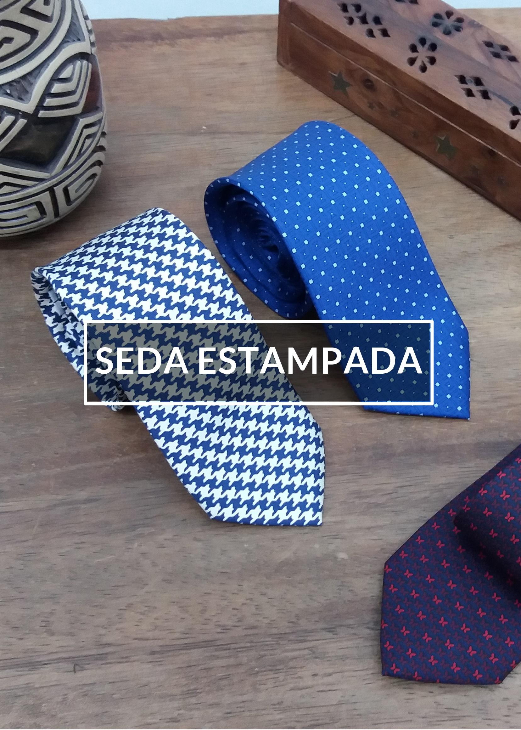 gravatas>seda estampada