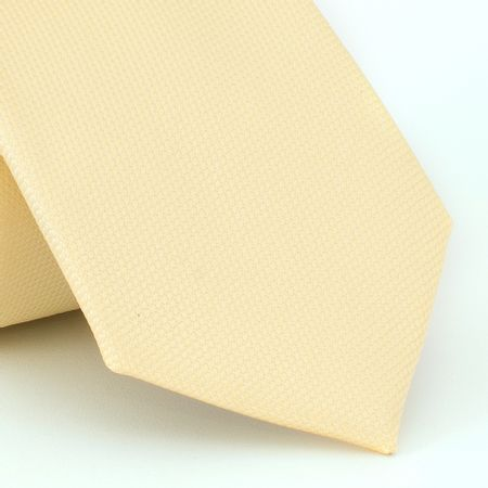 Gravata-falso-liso-em-jacquard-de-poliester-amarelo-claro