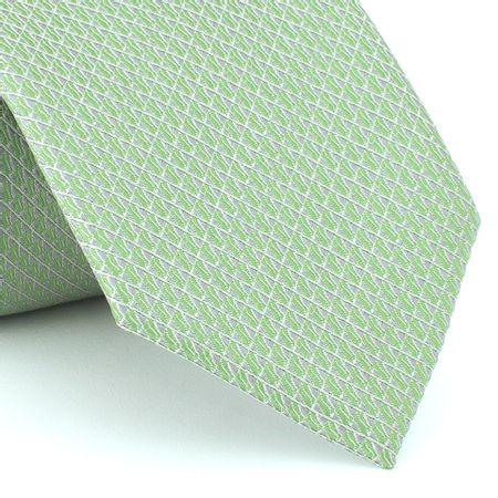 Grava-falso-liso-em-jacquard-de-poliester-verde-Greenery-com-fundo-cinza