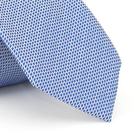 Gravata-falso-liso-em-jacquard-de-poliester-azul-indigo-com-fundo-branco