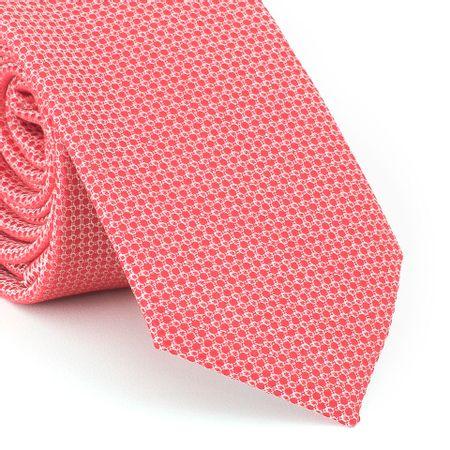 Gravata-Slim-com-desenho-falso-liso-em-poliester-Vermelho-Escarlate-com-fundo-branco
