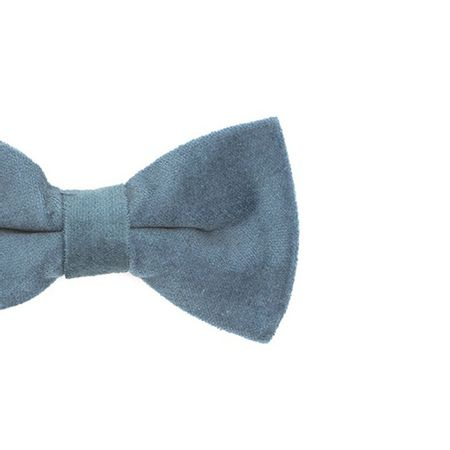Gravata-borboleta-lisa-em-veludo-Azul-Retro