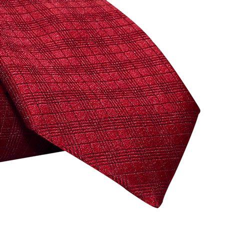Gravata-Tradicional-em-poliester-falso-liso-xadrez-vermelho1
