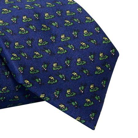 Gravata-Tradicional-seda-estampada-sapinhos-com-fundo-marinho1