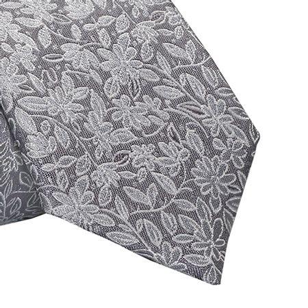 Gravata-Slim-floral-em-poliester-prata-com-fundo-branco1