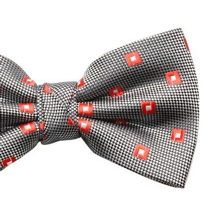 Gravata-borboleta-com-desenho-cashmere-em-poliester-prata-com-detalhes-quadriculado-vermelho