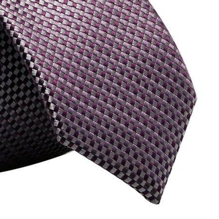 Gravata-Slim-xadrez-quadriculado-em-poliester-roxa