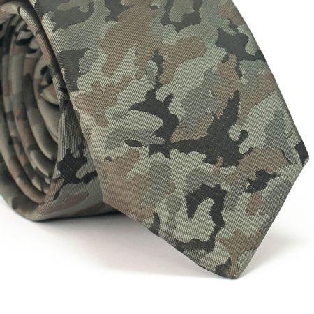 Gravata-Slim-Desenho-Camuflado-Verde