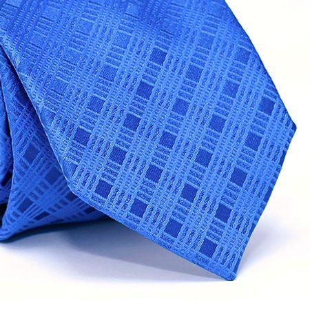 Gravata-Tradicional-em-Poliester-com-Desenho-Xadrez-na-cor-Azul
