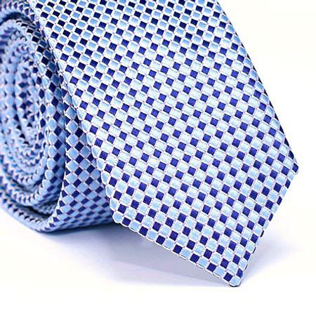 Gravata-Slim-em-Poliester-Desenho-Losango-na-cor-Azul