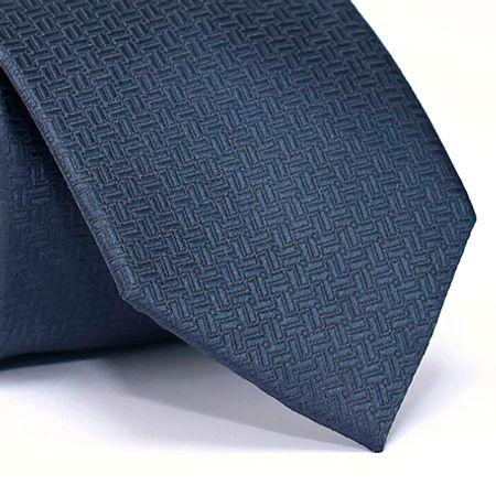 Gravata-Tradicional-em-Poliester-com-Desenho-Geometricos-na-cor-Azul-Escuro