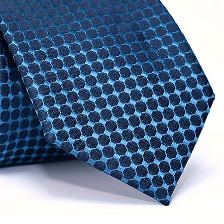 Gravata-Tradicional-em-Poliester-Azul-Escuro-com-Desenho-Geometricos-na-cor-Azul