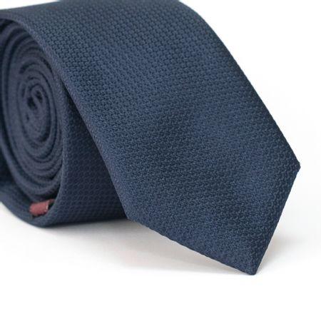 Gravata-Slim-em-Poliester-Falso-Liso-Azul-Marinho