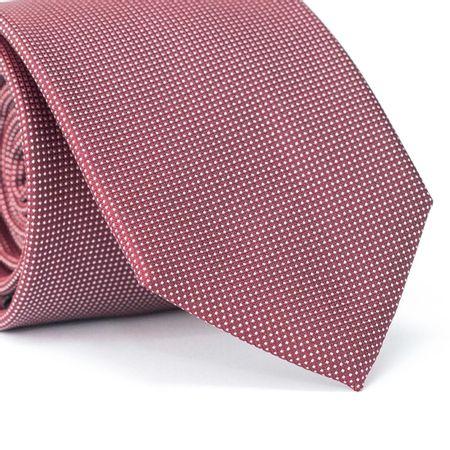 Gravata-Tradicional-em-Poliester-Vermelho-Falso-Liso-com-Detalhes-em-Poa