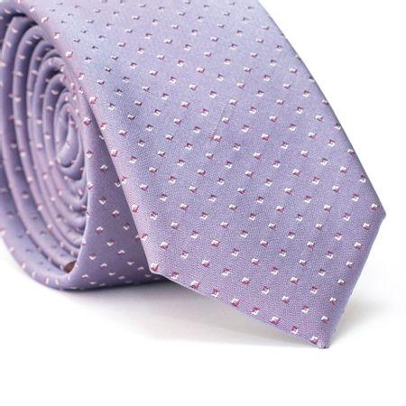 Gravata-Slim-em-Poliester-Roxa-com-Desenho-Geometrico