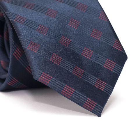 Gravata-Tradicional-em-Poliester-Azul-com-Xadrez-Vermelho-e-Azul