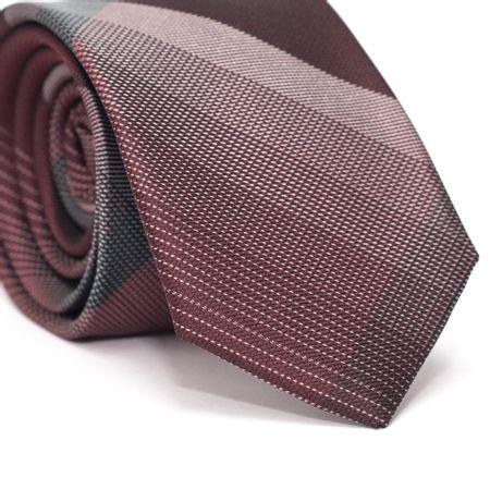 Gravata-Slim-em-Poliester-Xadrez-Vermelho-e-Preto-com-Detalhes-Branco