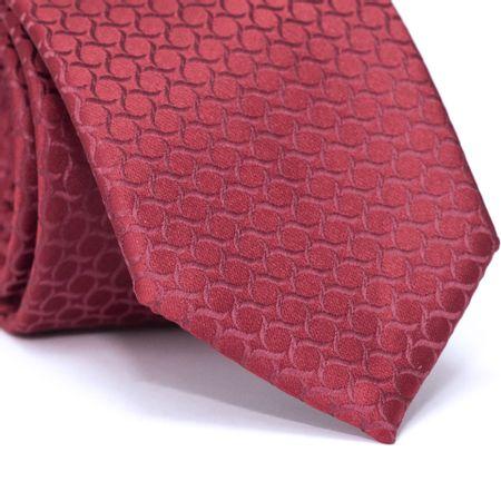 Gravata-Tradicional-em-Poliester-Vermelho-com-Desenhos-Geometricos-Vermelho
