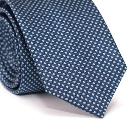 Gravata-Slim-em-Seda-Pura-Azul-com-Detalhes