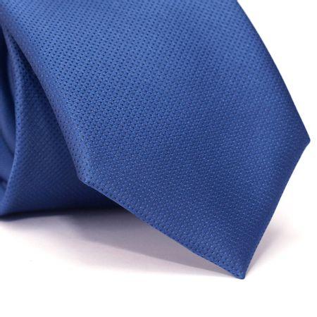 Gravata-Tradicional-em-Poliester-Azul-com-Micro-Detalhes-em-Preto