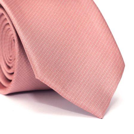 Gravata-Tradicional-em-Poliester-Rosa-Goiaba-com-Micro-Detalhe-Branco