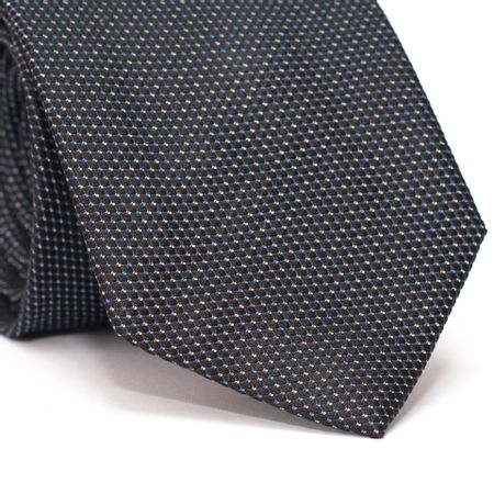 Gravata-Tradicional-com-Micro-Detalhes-na-cor-Azul-e-Branco-em-Seda-Pura-Preta