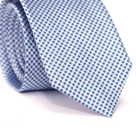 Gravata-Slim-em-Seda-Pura-Azul-Claro-com-Detalhes