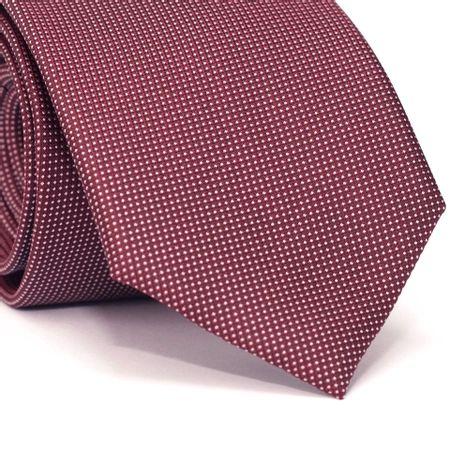 Gravata-Tradicional-em-Poliester-Vermelha-Escuro-com-Micro-Poa
