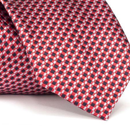 Gravata-Tradicional-em-Poliester-Vermelha-com-Detalhes-em-Branco-e-Preto