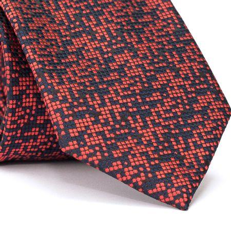 Gravata-Tradicional-em-Poliester-Azul-Marinho-com-Quadriculado-Vermelho-e-Preto