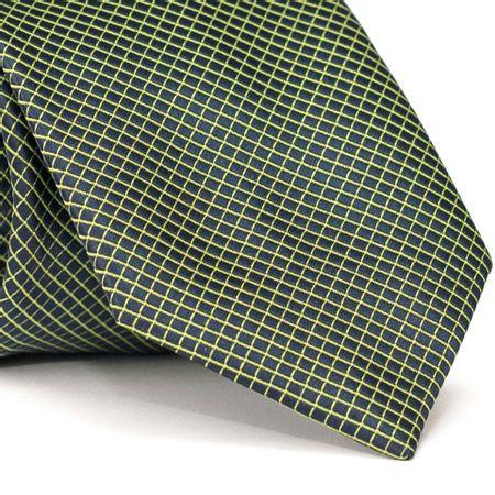 Gravata-Tradicional-em-Polieste-Preta-com-Detalhes-em-Verde