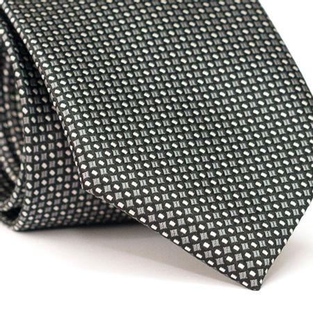 Gravata-Tradicional-em-Poliester-Preta-com-Desenhos-Geometricos-Branco-e-Cinza