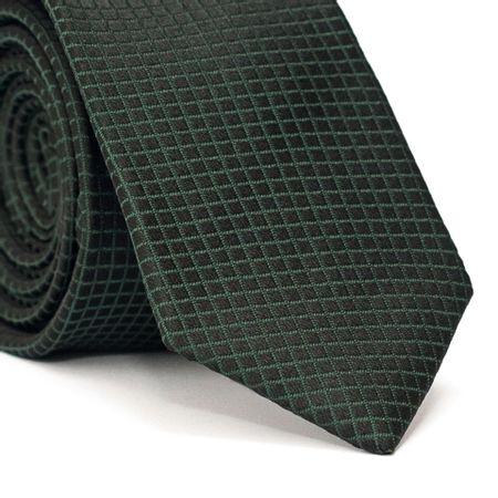 Gravata-Slim-em-Poliester-Preta-com-Detalhes-Verde