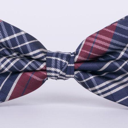 gravata-borboleta-com-desenho-xadrez-em-poliester-vermelha-textura-large