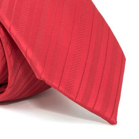 Gravata-com-desenho-listrado-em-poliester-Vermelha-textura-medium
