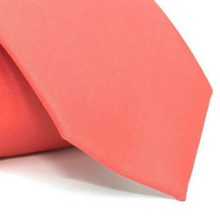 Gravata-com-desenho-falso-liso-em-poliester-Vermelha-textura-small-5