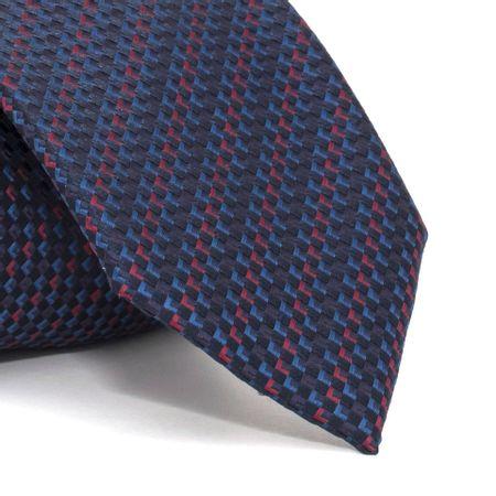 Gravata-com-desenhos-geometricos-em-poliester-Azul-textura-small-2