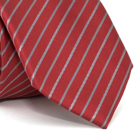 veja-mais-fotos-Gravata-com-desenho-listrado-em-poliester-Vermelha-textura-small