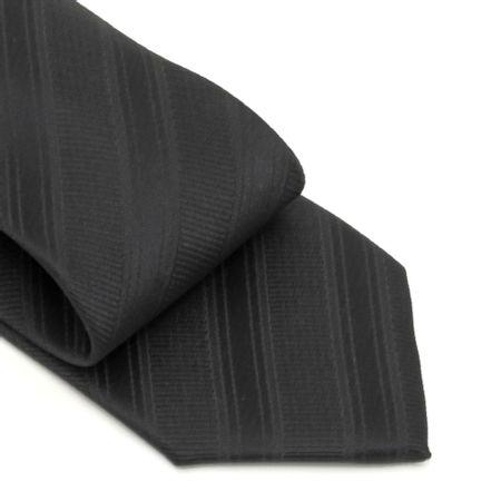 Gravata-com-no-pronto-desenho-listrado-em-poliester-Preta-textura-large-2