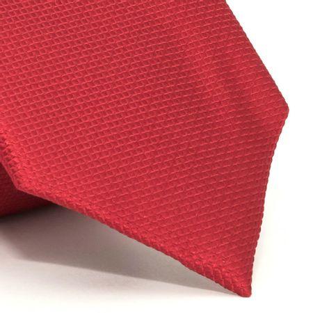 Gravata-com-desenho-falso-liso-em-seda-pura-Vermelha-textura-small