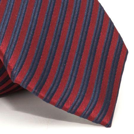 Gravata-com-desenho-listrado-em-seda-pura-Vermelha-textura-medium