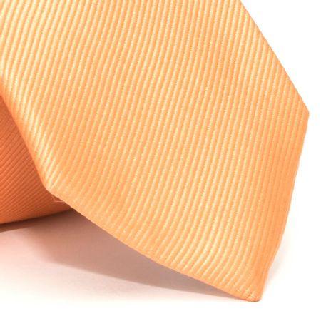 Gravata-com-desenho-falso-liso-em-seda-pura-Laranja-textura-small