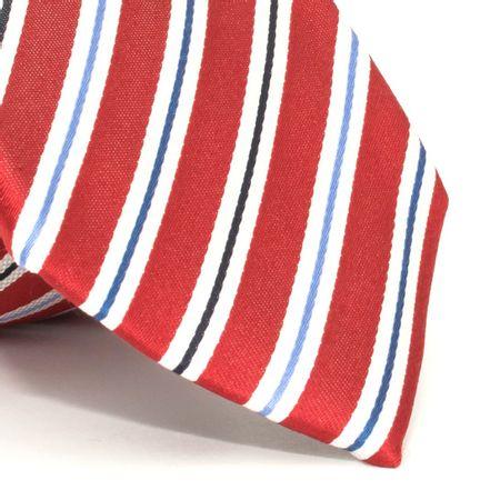 Gravata-com-desenho-listrado-em-seda-pura-Vermelha-textura-large