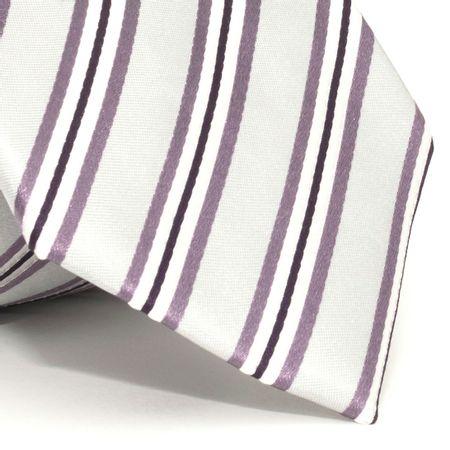 Gravata-com-desenho-listrado-em-seda-pura-Cinza-textura-large-1