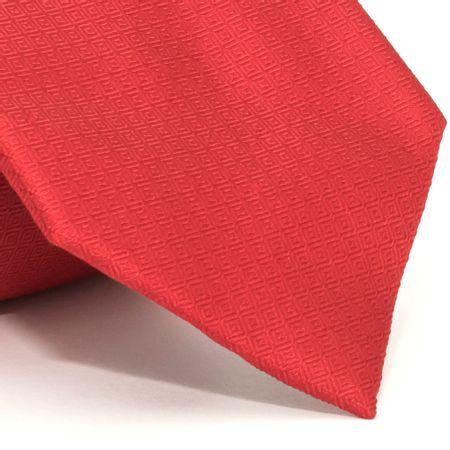 Gravata-com-desenhos-geometricos-em-seda-pura-Vermelha-textura-medium